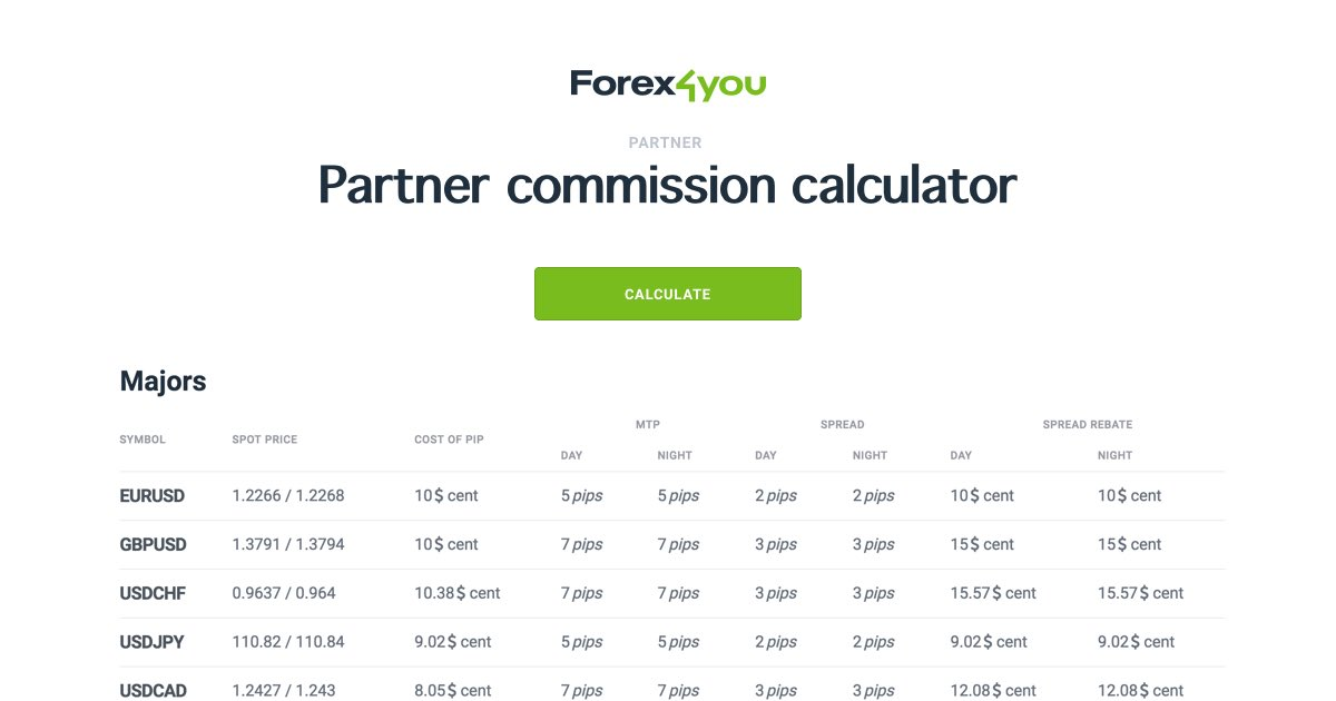 Forex commission calculator